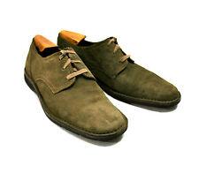 John Varvatos USA Suede Derby Oxford 12 D M Sid Eva Shoes Brown Tan Olive