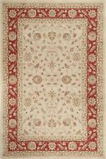 ANTIQUE ZIEGLER ORIENTAL TRADITIONAL RED CREAM RUGS MEDIUM LARGE 160 X 220