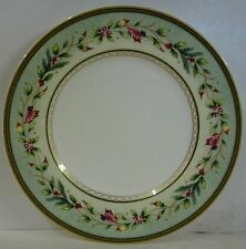 Fitz & Floyd WINTER HOLIDAY Salad Plate BEST!  Multiple Available GARLAND RIM