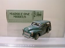 MARQUE ONE MODELS MORRIS 1000 TRAVELLER GREEN FACTORY HANDBUILT BOXED 1:43