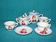 Little Red Riding Hood L.R.R.H. 9 pcs Porcelain Tea Set