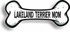 "Dog Mom Lakeland Terrier Bone Car Magnet Bumper Sticker 3""x7"""