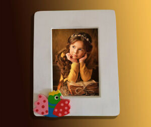 Wooden Handmade Recycled Photo Frame 10cm x 14cm Natural Kids Picture Frame