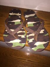 REAL TREE Camouflage Thongs Flip Flop Sandals Beach Lake Casual Women Shoes SZ 8