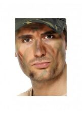 3 COLOUR FACE PAINT CAMO CAMOUFLAGE MAKE UP ARMY MILITARY COSTUME ACCESSORY