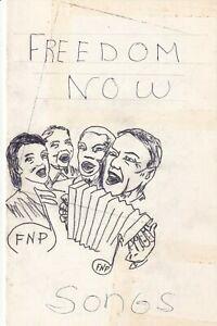 1960s VINTAGE ORIGINAL FREEDOM NOW POLITICAL BLACK AMERICANA MOCKUP SONG BOOK