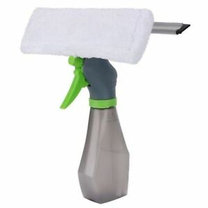 3 in 1 Spray Bottle Wiper Squeegee Microfibre Cloth Pad Kit Window Vac Cleaner