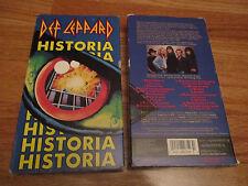 1988 DEF LEPPARD - HISTORIA VHS Video Tape