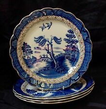Pottery & Glass Vintage Booths Teapot Lowestoft Deer Silicon China Blue White Antique Numbered