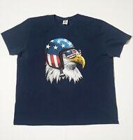 Spirit Of America Shirt Unisex Bald Eagle American Flag PILOT 2XL U.S.A S-Sleeve