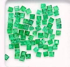 Natural Emerald Square Cut 1.75 mm Lot 68 Pcs 1.96 Cts Rich Green Loose Gemstone