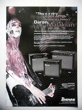 PUBLICITE-ADVERTISING :  Amplis IBANEZ  03/2002 Daron Malakian,System Of A Down