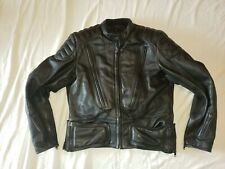 Hein Gericke First Gear Motorcycle Heavy Leather Jacket Padded Black Size 48