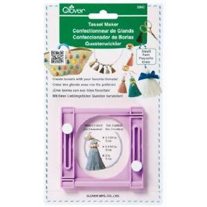 Clover Tassel Maker, PURPLE - DIY Embellishment Easy to Make 3 sizes of Tassels
