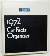 1972 Ford Car Dealer Product Information Data Book Car Facts Mustang T-Bird Taxi