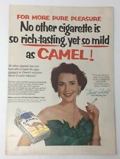 Original Print Ad 1954 CAMEL Cigarettes Teresa Wright  Mildness Richer Flavor