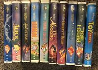 Lot 10 Disney VHS Movies Dumbo Cinderella Toy Story Bambi Beauty Beast & MORE