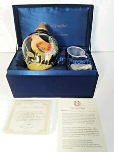 Ne Qwa Art  Effusion Oil Fragrance Glass Burner Hand Painted Rooster