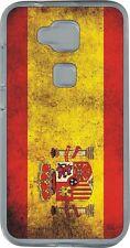 funda carcasa gel soft case Huawei Ascend G8,bandera espana spain