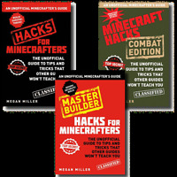 Unofficial Minecraft Guide 3 Books Set Collection Hacks Combat Master Buider