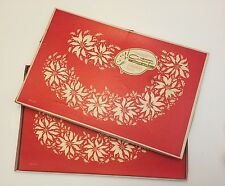 Vintage Contempo Paper Ware 16 Christmas Poinsetta Place Mats, Helen Stuebe