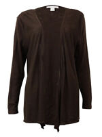 Charter Club Women's Solid Line Open-Front Cardigan