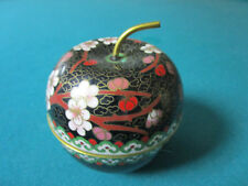 "CLOISONNE CHINESE APPLE TRINKET BOX 3 X 3"" [*CLOI]"