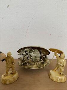 3 sehr alte Japanische  Figuren aus Celluloid Handarbeit