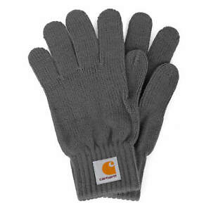 Carhartt wip watch Gloves Blacksmith Grey - Men's winter Knitted Gloves