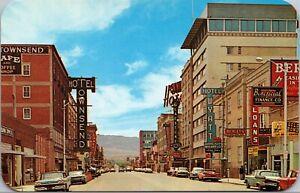 Postcard Center Street Looking South in Casper, Wyoming~137606