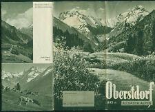 Reiseprospekt Oberstdorf  Allgäuer Alpen Fotos Zeichnungen Informationen 1938