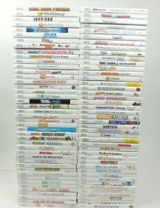 Nintendo Wii Games! Choose your Favorite video game! Games w/Manual
