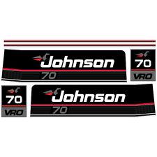 Johnson 70 (1989) outboard decal aufkleber adesivo sticker set