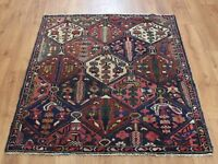 Traditional Vintage Wool Handmade Classic Oriental Area Rug Carpet 138 X 110 cm
