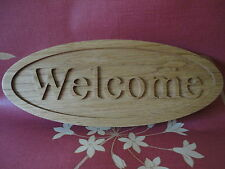 WELCOME WOODEN OAK HOUSE SIGN/WALL/GARDEN/CUSTOMIZED QUALITY WOOD ART