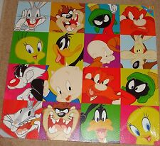 """Warner Bros Collage  30"""" x 30"""" Classic Canvas Bugs Bunny, Wile coyote & more"""