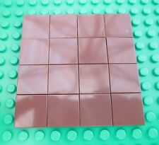 Lego Brown Floor Tiles boards city town smooth wood forest castle pirates 2x2