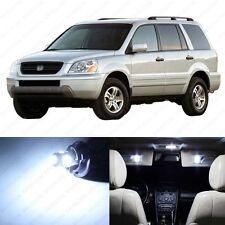 12 x White LED Lights Interior Package Deal For Honda PILOT 2003 - 2005