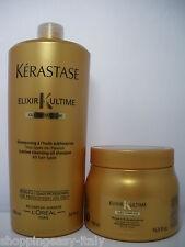 Kerastase elixir ultime oil-enriched shampoo + mask salon size +  free shipping
