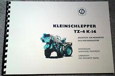 TZ4K Bedienungsanleitung TZ 4K-14 no Fortschritt ZT300 303 IFA W50 Belarus ZETOR