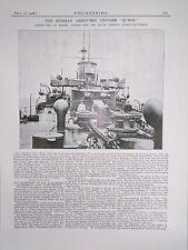 The Russian Armoured Cruiser Rurik Barrow-I.F.: 1908 Engineering Magazine Print
