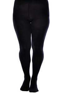 Aurellie Women Warm Winter Opaque 80 denier Microfiber Tights Plus Sizes