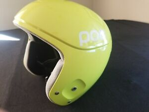 POC Skull Orbic X Racing Ski SnowboardHelmet Size 59/60cm Neon Yellow Worn Once