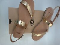 NEW UGG BRYLEE SOFT GOLD LEATHER  SHOES  / SANDALS..UK  4 / 5  ..  EU 37 / 38