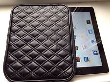 IPAD WALLET BLACK QUILTED PU LEATHER ZIP AROUND BNWT Great Gift