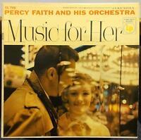 PERCY FAITH music for her LP VG+ CL 705 Mono 6 Eye USA 1956 Record CBS