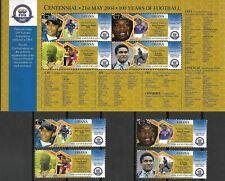 """GHANA - 2004 MNH """"CENTENNIAL - 100 Years Of FOOTBALL"""" Souvenir Sheet & Set !!"""