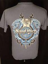 Hard Rock Cafe Authentic Destin Dragons Guitar Mens Size Medium M Blue T-shirt