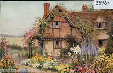 B5967cgt UK Cottage Garden Artist postcard