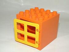 Lego Duplo Hausteil Haus Fenster Puppenhaus Bauerhof Gebäudeteil orange gelb